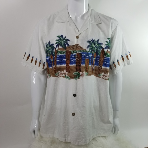 8f418129 Favant Shirts | Hawaiian Aloha Tropical Buttonfront Shirt | Poshmark